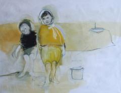 At the beach III, oil on cavnas, 115 cm x 145 cm x 2.5 cm